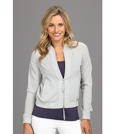 Calvin Klein Jeans - Soft Touch Poly Bomber Jacket (Mirage Grey) Women's Coat