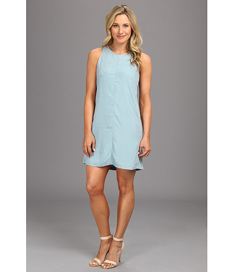Calvin Klein Jeans - Cut Out Darted Shift Dress (Blue Wind) Women's Dress