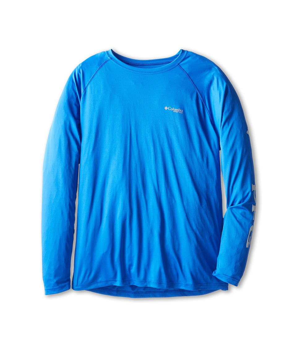 Columbia - Terminal Tackletm L/S Shirt - Extended (Vivid Blue/Cool Grey Logo) Men's Long Sleeve Pullover