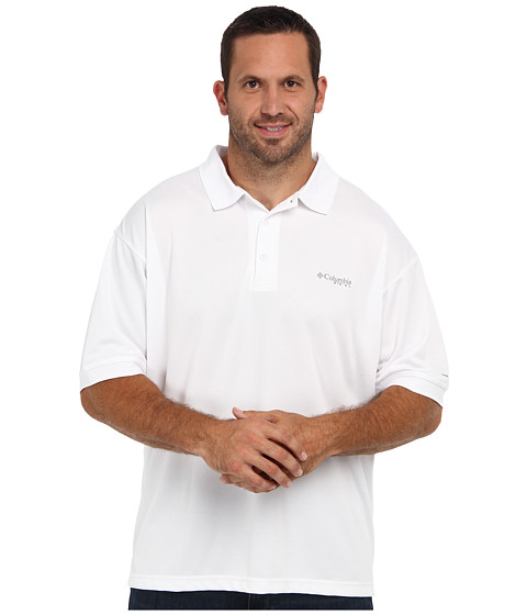 Columbia - Perfect Cast Polo - Extended (White) Men's Clothing