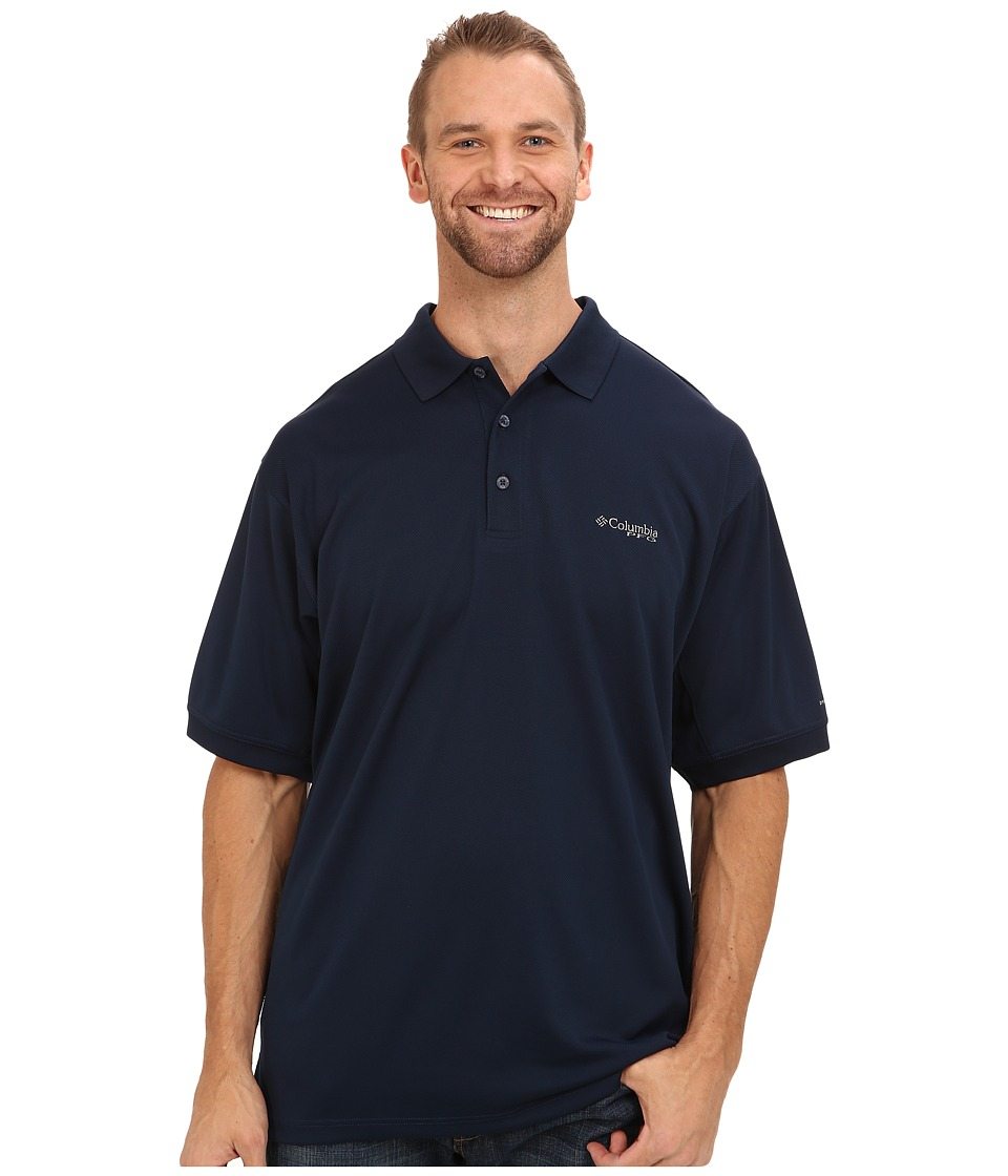 Columbia - Perfect Cast Polo - Extended (Collegiate Navy) Men's Clothing