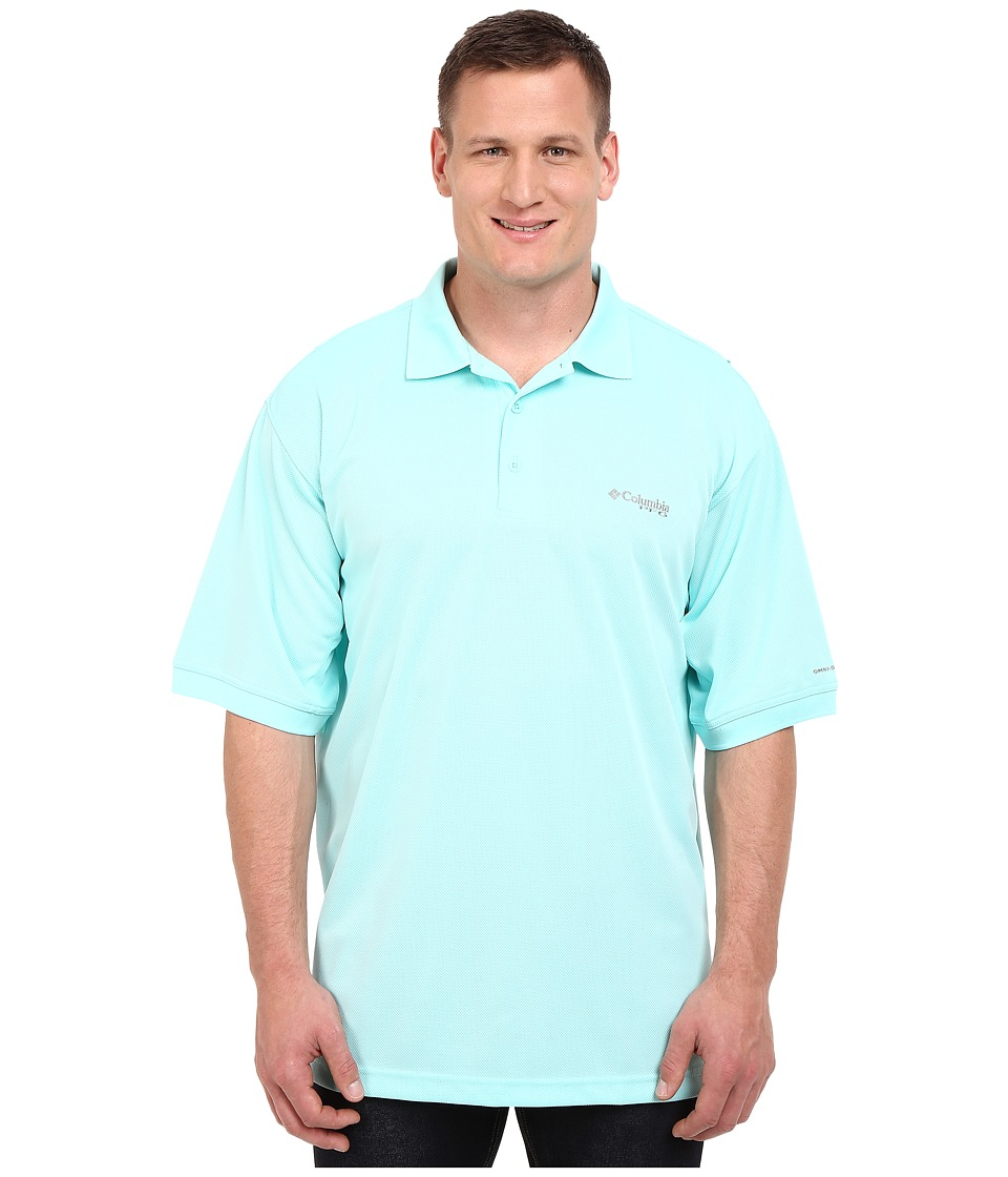 Columbia - Perfect Cast Polo - Extended (Gulf Steam) Men's Clothing
