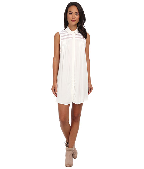 MINKPINK - The Wonder Of You Shirt Dress (White) Women