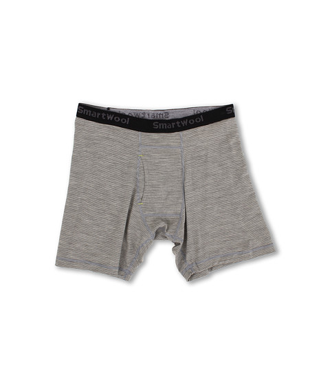 Smartwool - NTS Micro 150 Pattern Boxer Brief (Silver Gray Heather) Men