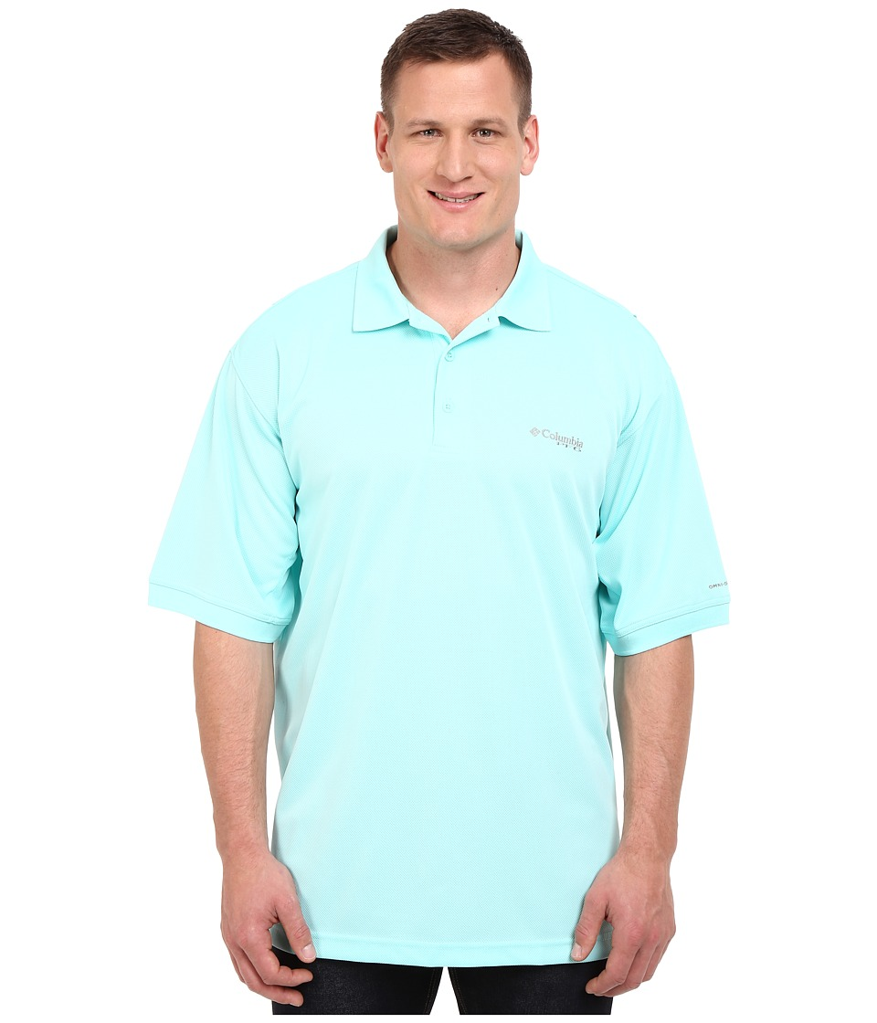 Columbia - Perfect Cast Polo - Tall (Gulf Stream) Men's Short Sleeve Pullover