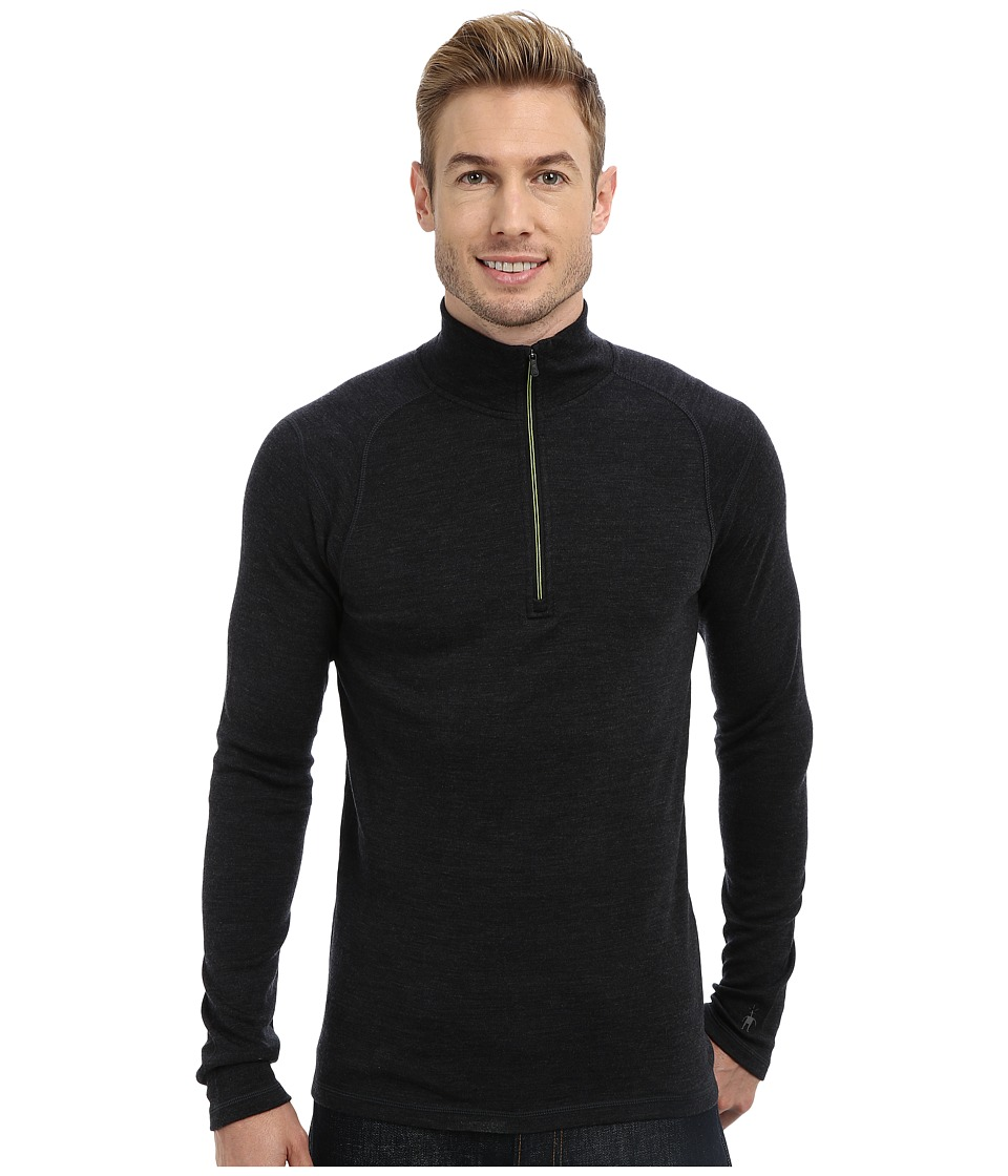 Smartwool - Midweight Zip T (Charcoal Heather) Men's Long Sleeve Pullover