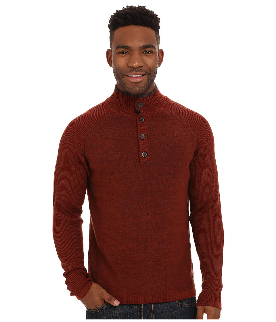 Smartwool Pioneer Ridge Half Button Sweater (Cinnamon Heather) Men