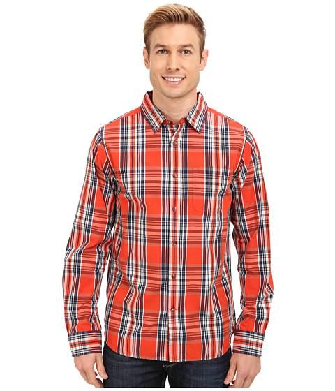 The North Face - L/S Hammetts Shirt (Valencia Orange) Men's Long Sleeve Button Up