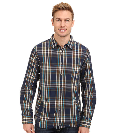 The North Face - L/S Hammetts Shirt (Cosmic Blue) Men's Long Sleeve Button Up