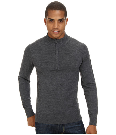 Smartwool - Kiva Ridge Half Zip (Medium Grey Heather) Men's Long Sleeve Pullover