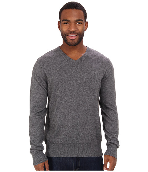 The North Face - Mt. Tam V-Neck Sweater (Charcoal Grey Heather) Men