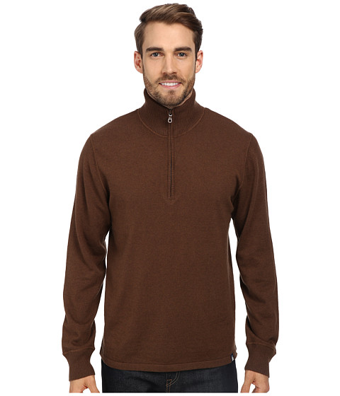 The North Face - Mt. Tam 1/4 Zip Sweater (Burrow Brown Heather) Men's Sweater
