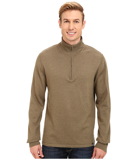 The North Face - Mt. Tam 1/4 Zip Sweater (Burnt Olive Green Heather) Men's Sweater