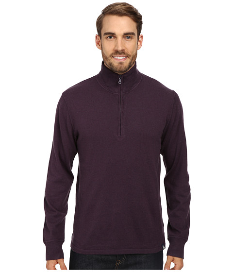The North Face - Mt. Tam 1/4 Zip Sweater (Dark Eggplant Purple Heather) Men