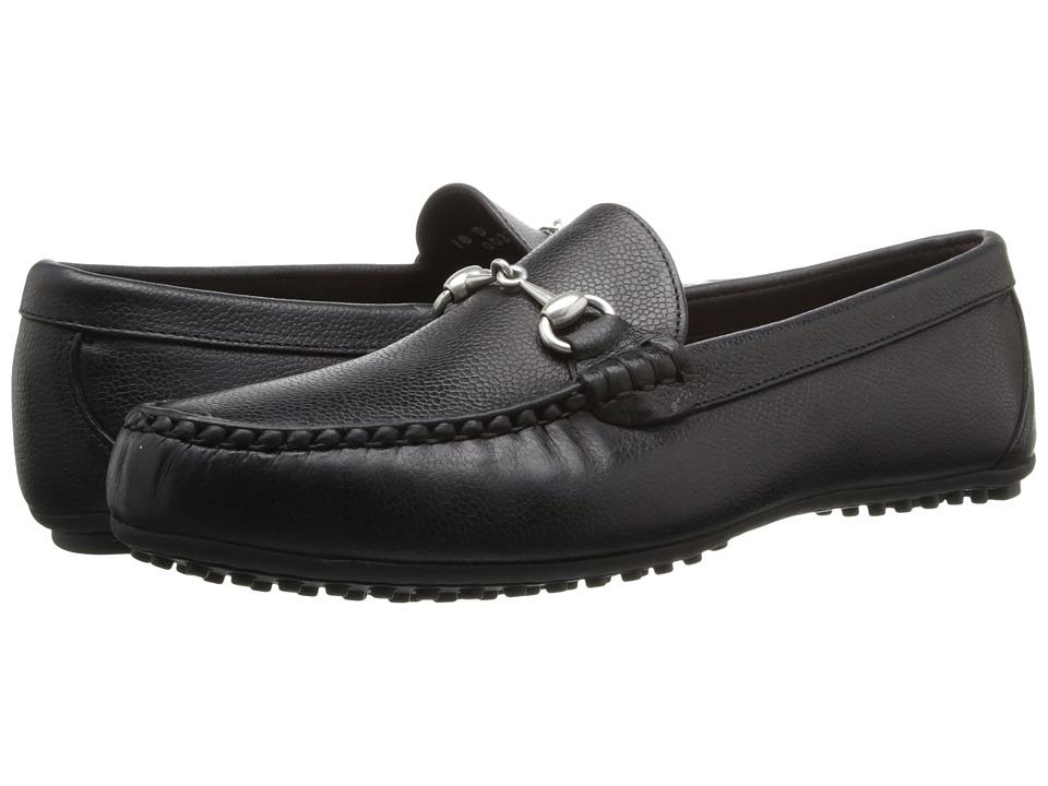Allen-Edmonds - Interstate 80 (Black Grain Print Leather) Men's Slip on Shoes