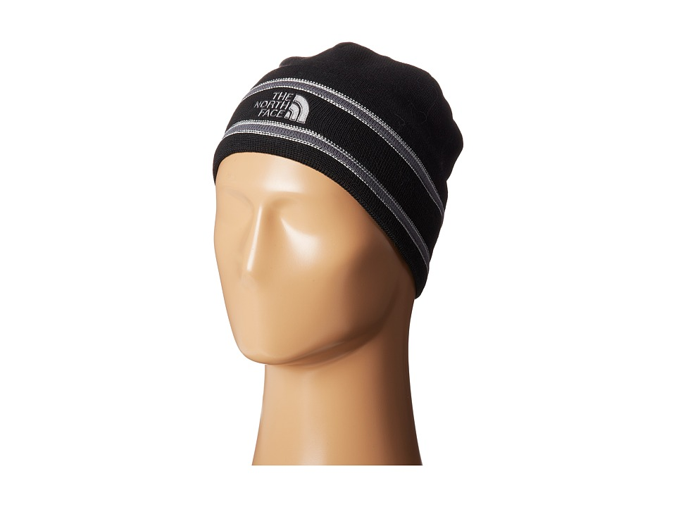 The North Face - The North Face Logo Beanie (TNF Black/Vanadis Grey) Beanies