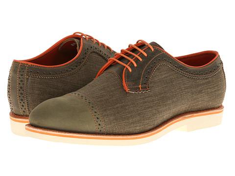 Allen-Edmonds - Baton Rouge (Olive Leather/Olive Lintex) Men's Lace Up Cap Toe Shoes