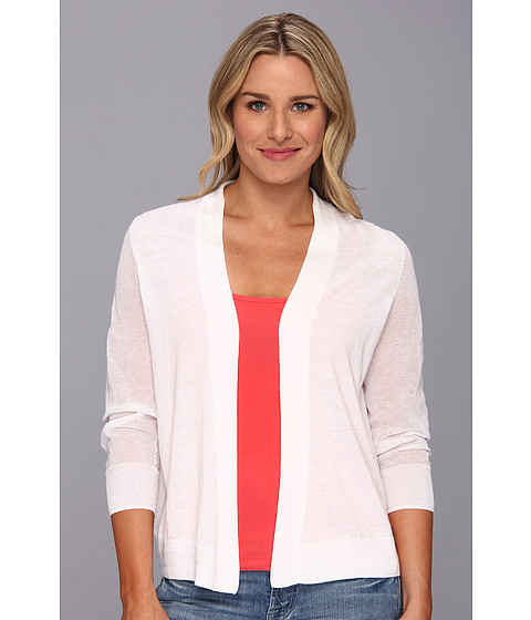 NYDJ - Veiling Cardigan (Optic White) Women's Sweater