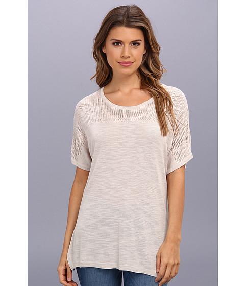 NYDJ - Lightweight Mesh Detail Sweater (Sand Dollar) Women