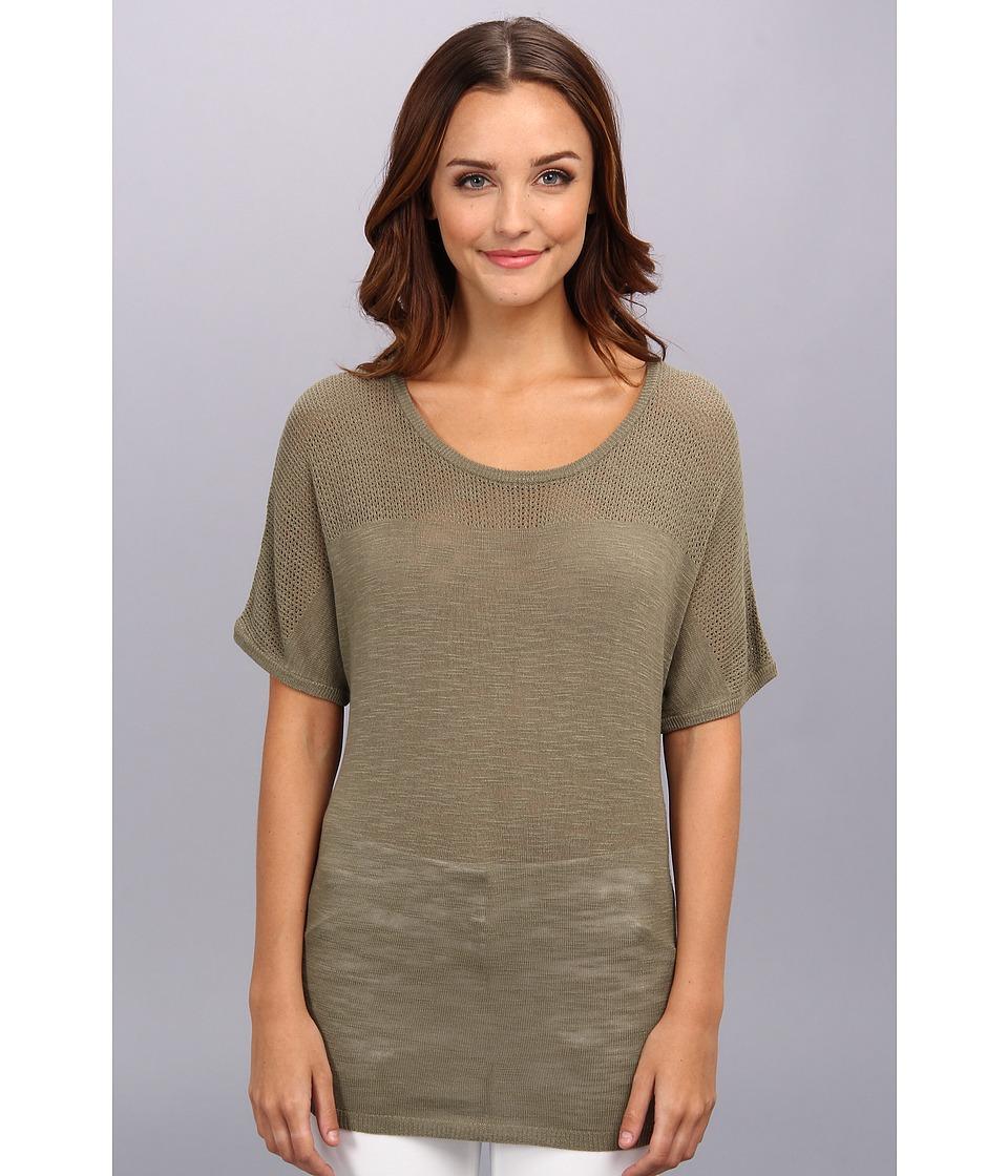 NYDJ - Lightweight Mesh Detail Sweater (Fennel) Women's Sweater