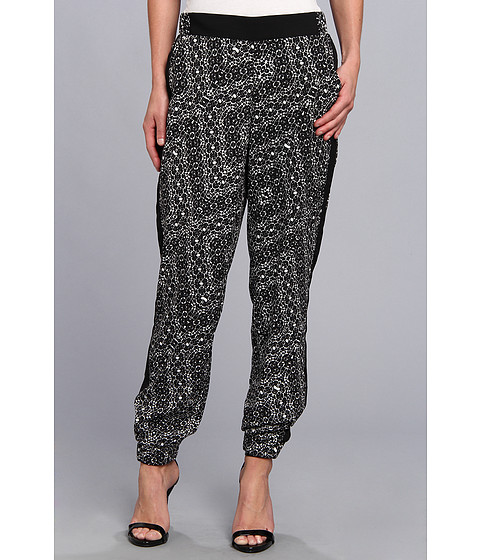 NYDJ - Printed Track Pant (Black/White) Women's Casual Pants