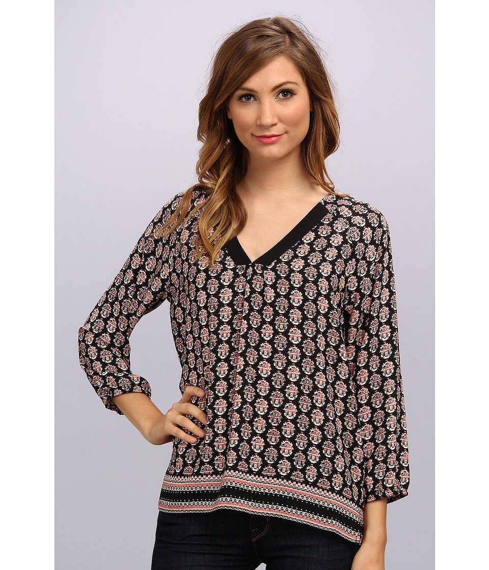 NYDJ - Talitha Print Blouse (Black) Women's Blouse