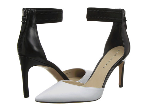 Via Spiga - Ife (Black/White Delice Soft Calf/Petalo Calf/Elastic) High Heels