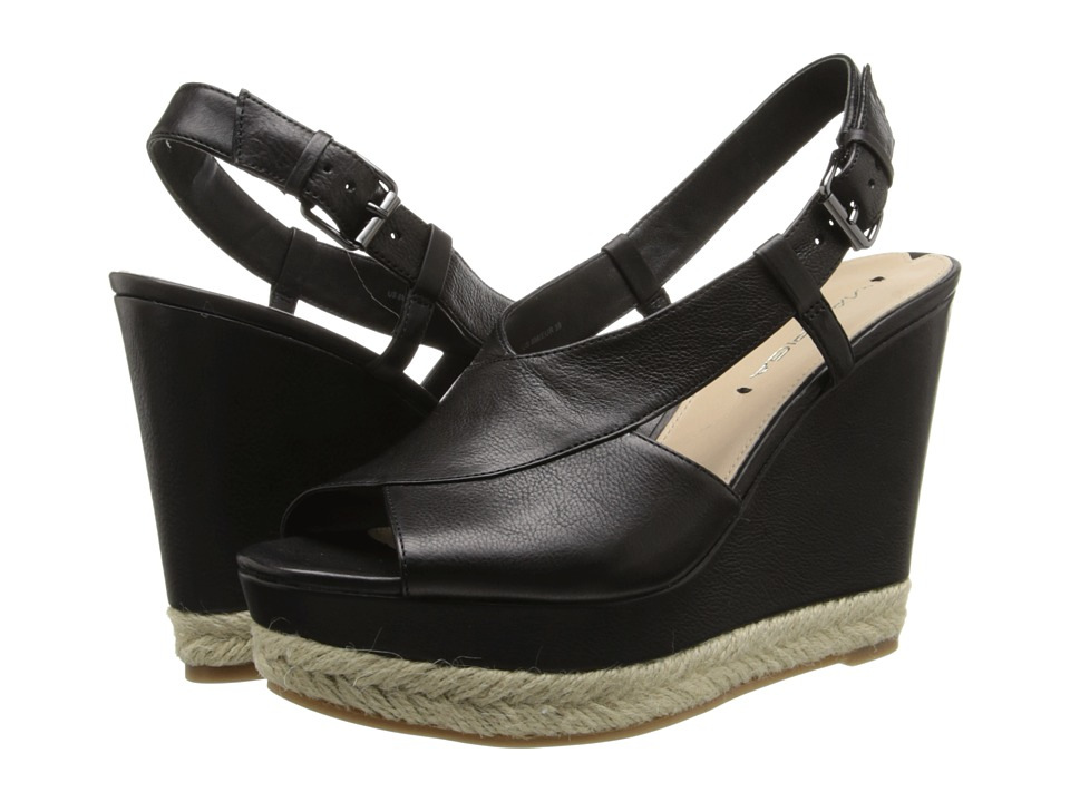 Via Spiga - Maisy (Black Patty Calf) Women's Wedge Shoes