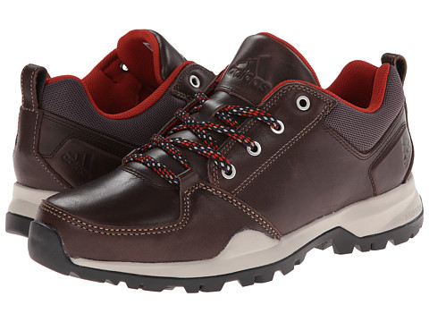 adidas Outdoor - Rockstack Leather (Dark Brown/Tribe Orange) Men's Shoes