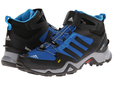 size 40 3f6fc ac73b UPC 887780161219 product image for adidas Outdoor Terrex Fastshell Mid  (Blue Beauty Black  ...