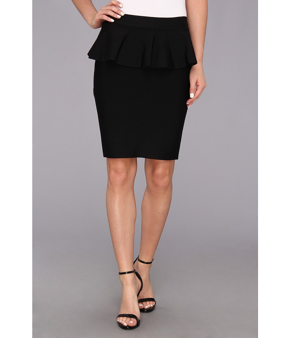 BCBGMAXAZRIA - Peplum Skirt (Black) Women's Skirt