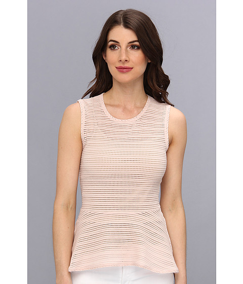 BCBGMAXAZRIA - Evia Lace Peplum Top (Dusty Pink) Women