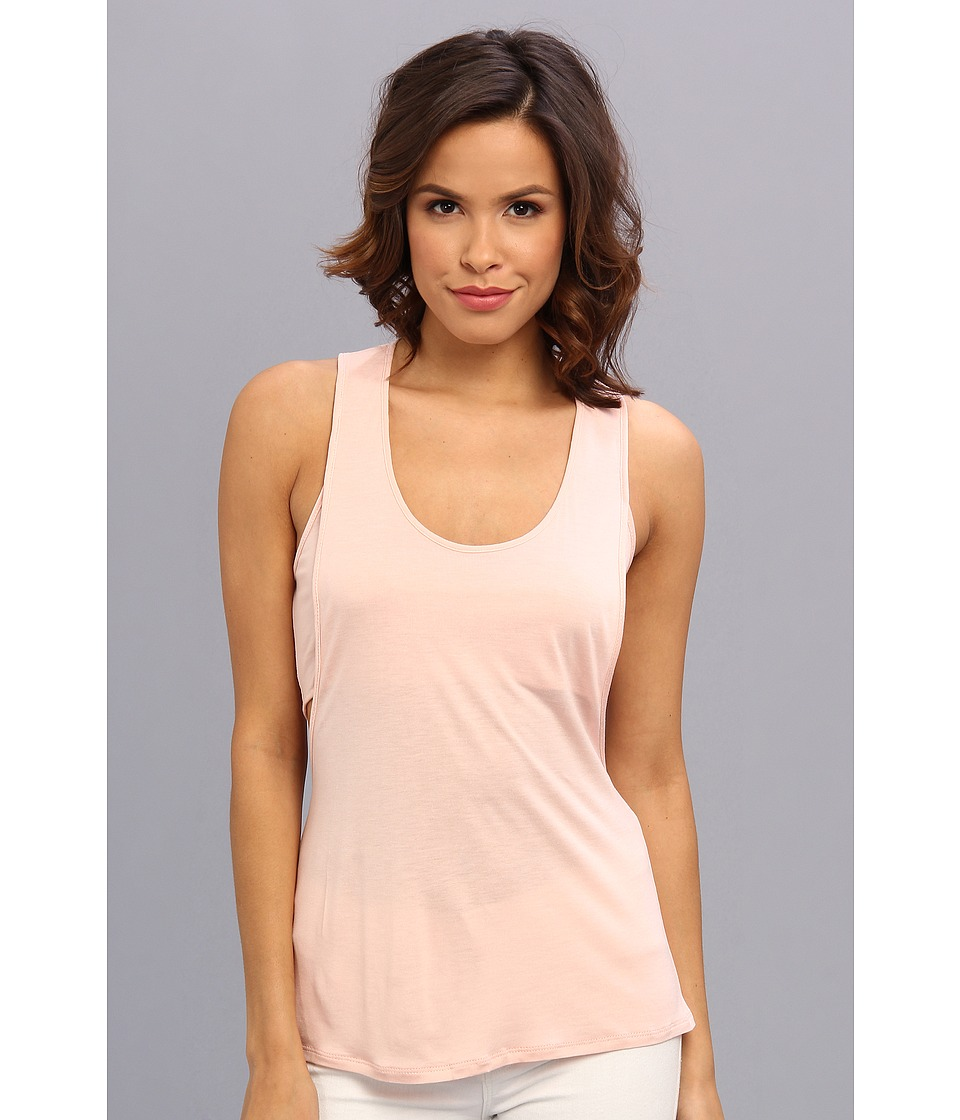 BCBGMAXAZRIA - Leslie Double Tank With Twist Back (Soft Petal) Women's Sleeveless