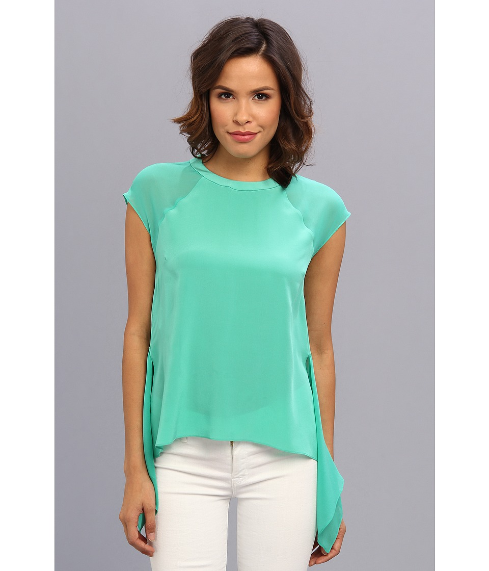 BCBGMAXAZRIA - Sammie Sleeveless Top With Asymmetrical Hem (Green Jade) Women's Blouse