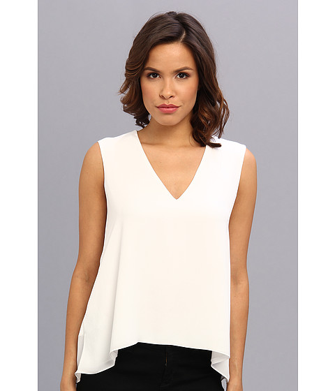BCBGMAXAZRIA - Eliza Sleeveless Top With Back Cowl (White) Women