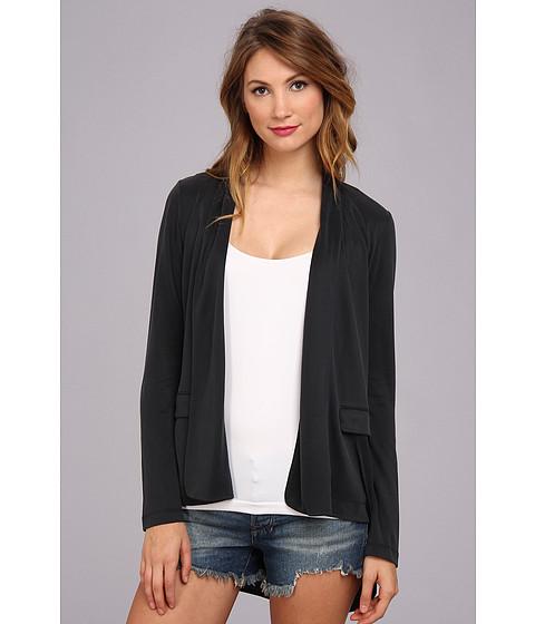 BCBGMAXAZRIA - Jersey Asymmetrical Jacket (Vintage Black) Women's Sweater