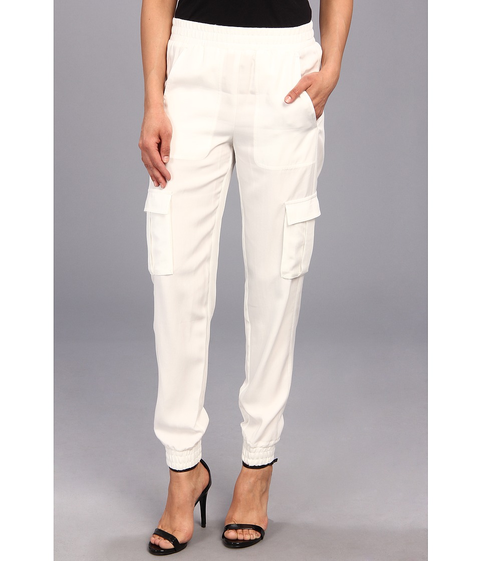 BCBGMAXAZRIA - Raissa Tapered Cargo Pant (Off White) Women's Casual Pants
