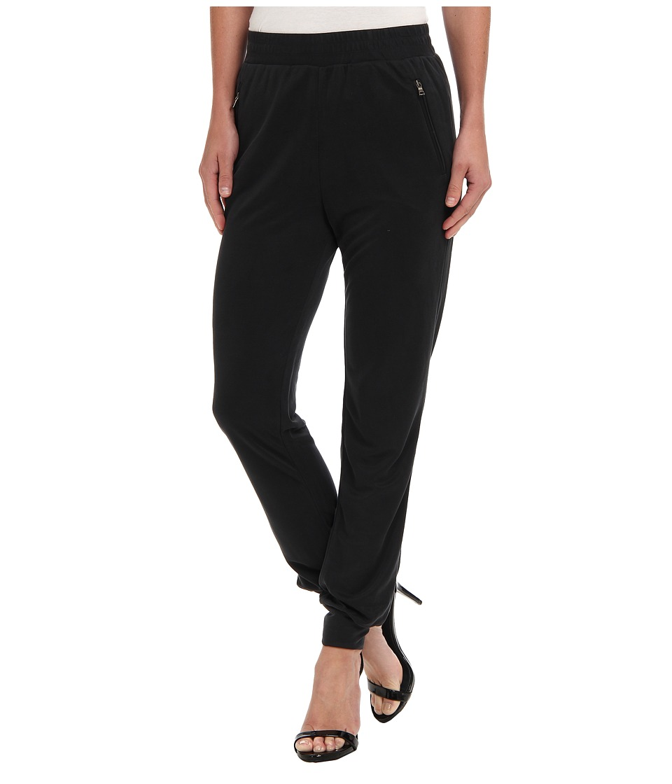 BCBGMAXAZRIA - Sami Jersey Track Pant (Vintage Black) Women