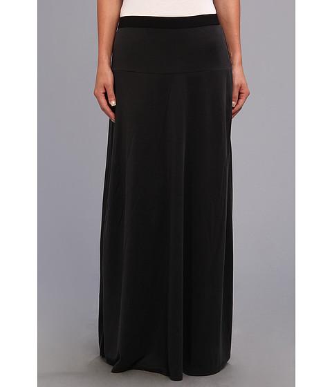 BCBGMAXAZRIA - Jaymee Wide Banded Maxi Skirt (Vintage Black) Women's Skirt