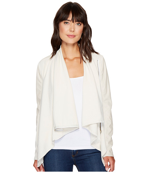 Blank NYC - Beige Vegan Leather Sleeved Draped Jacket in Beige (Beige) Women's Jacket