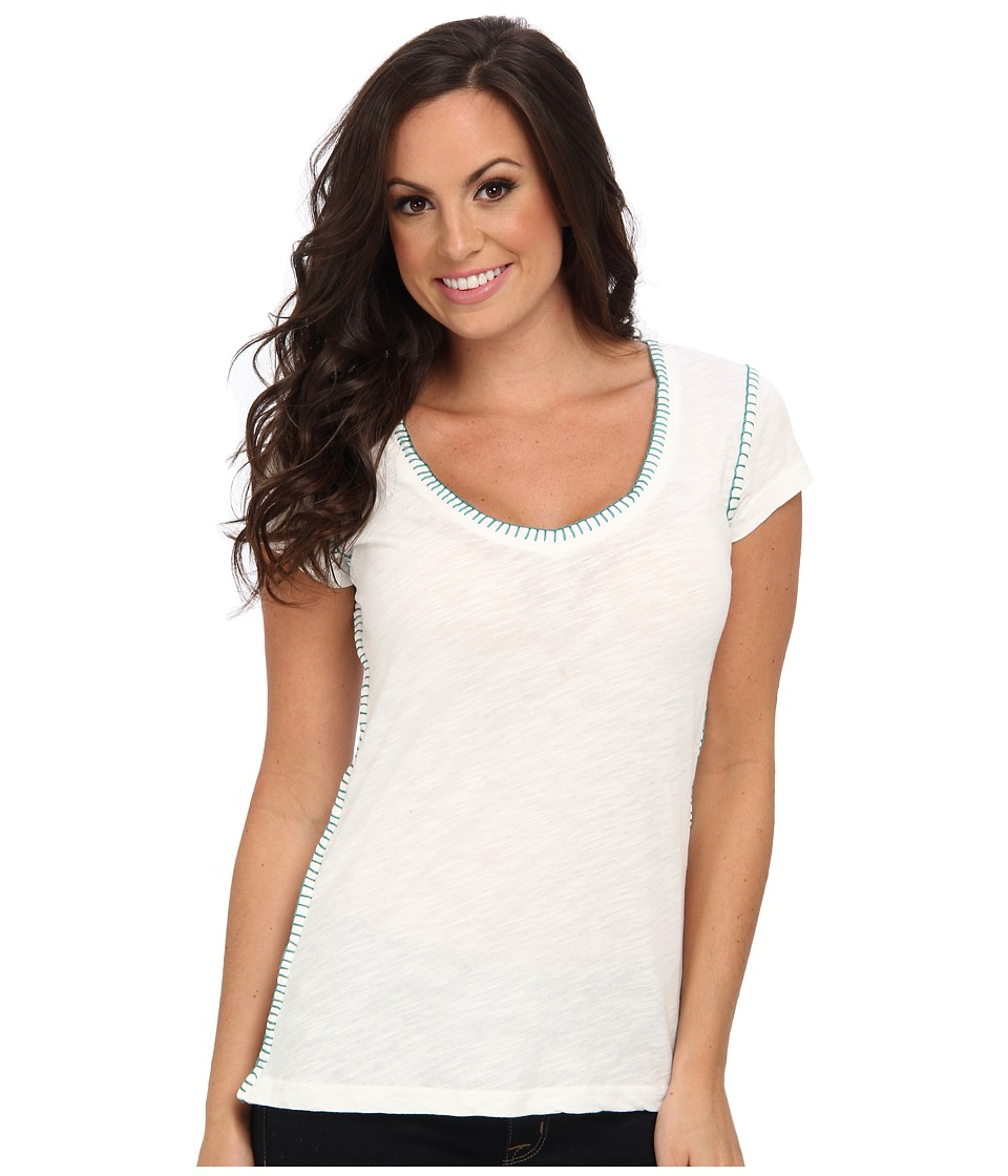 Ariat - Ana Top (Snow White) Women's Short Sleeve Pullover