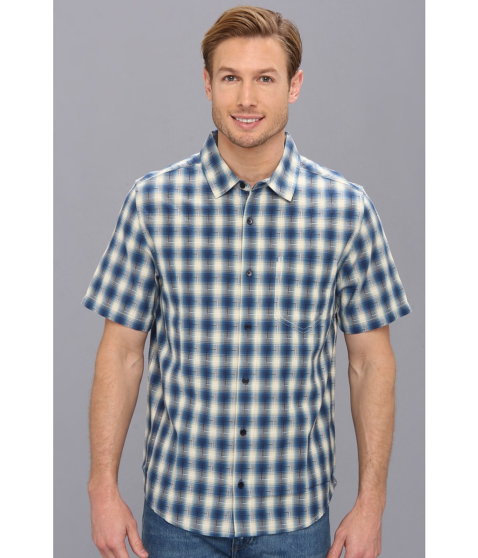 Toad&Co - Open Air S/S Shirt (Lapis Blue) Men's Short Sleeve Button Up
