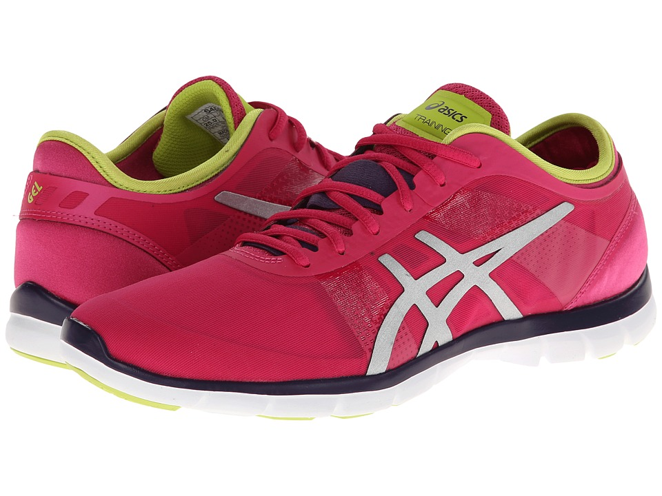 ASICS - GEL-Fit Nova (Hot Pink/Silver/Lime) Women's Cross Training Shoes