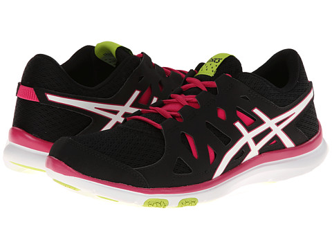 ASICS - GEL-Fit Tempo (Black/White/Hot Pink) Women
