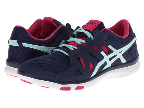 ASICS - GEL-Fit Tempo (Navy/Ice Blue/Hot Pink) Women's Cross Training Shoes