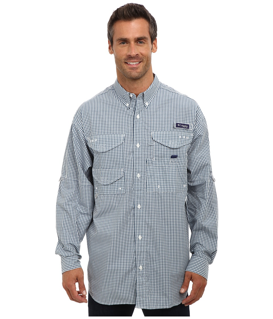 Columbia - Super Bonehead Classic Long Sleeve Shirt (Blue Heron Gingham) Men's Long Sleeve Button Up