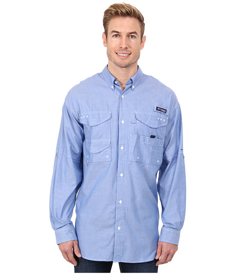 Columbia - Super Bonehead Classic Long Sleeve Shirt (Vivid Blue Oxford) Men's Long Sleeve Button Up