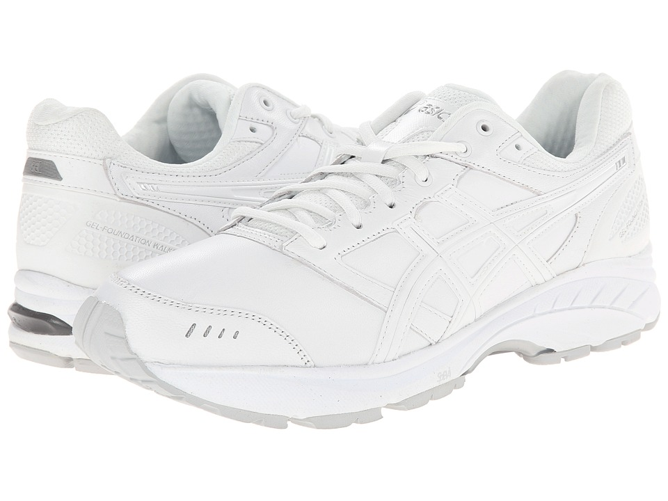 ASICS - GEL-Foundation Walker 3 (White/Silver) Men's Walking Shoes