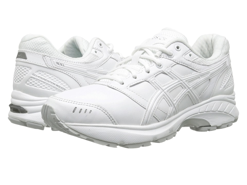 ASICS - GEL-Foundation Walker 3 (White/Silver) Women's Walking Shoes