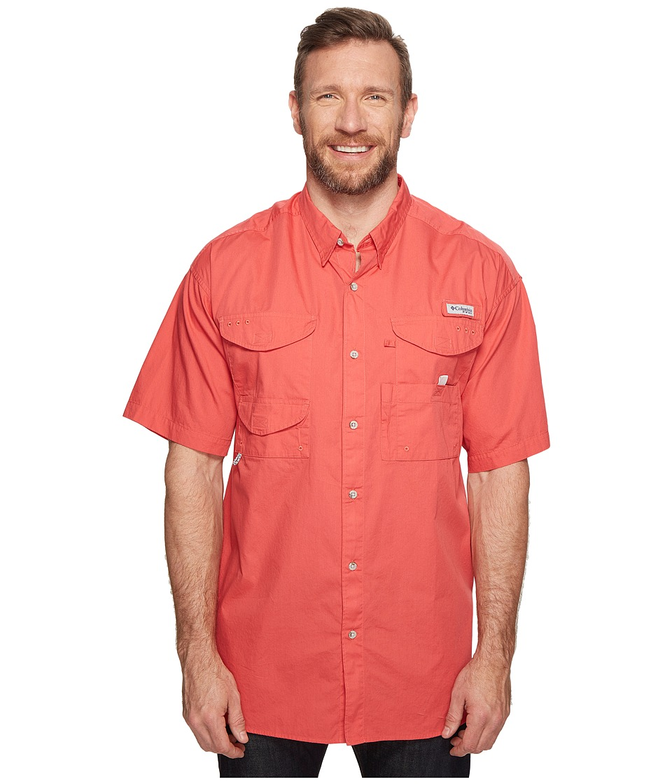 Columbia - Boneheadtm S/S Shirt - Big (Sunset Red) Men's Short Sleeve Button Up